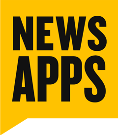 Texas Tribune News Apps logo, links to News Apps' Twitter account